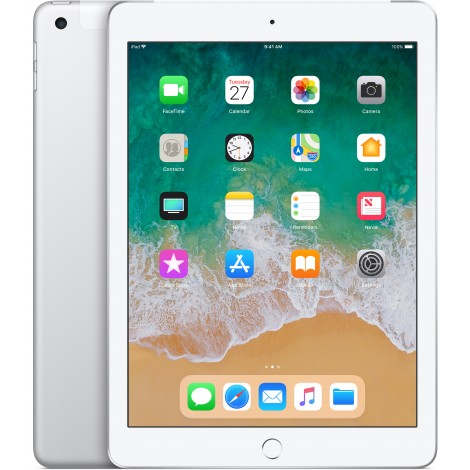 Apple iPad 128GB Wifi + Cellular Zilver (2018)