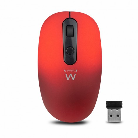 Ewent EW3227 Wireless Mouse Red