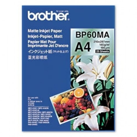 Brother BP60MA A4 Matte Inkjet Paper 145gr (25 vel)