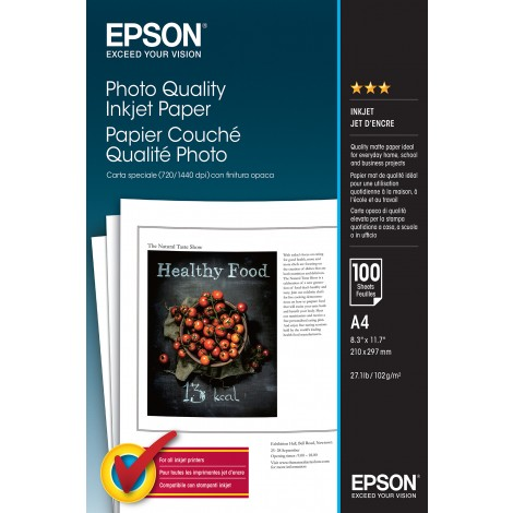 Epson S041061 A4 Photo Quality Inkjet Paper 105gr (100 vel)