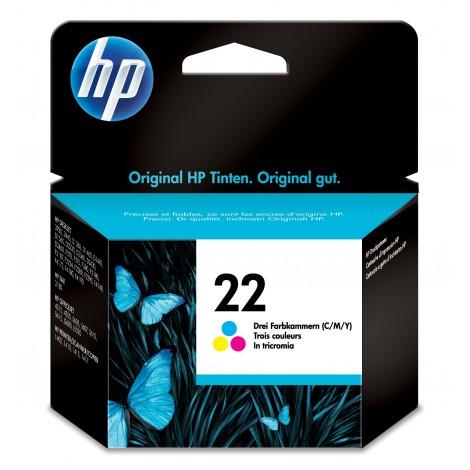 HP 22 originele drie-kleuren inktcartridge