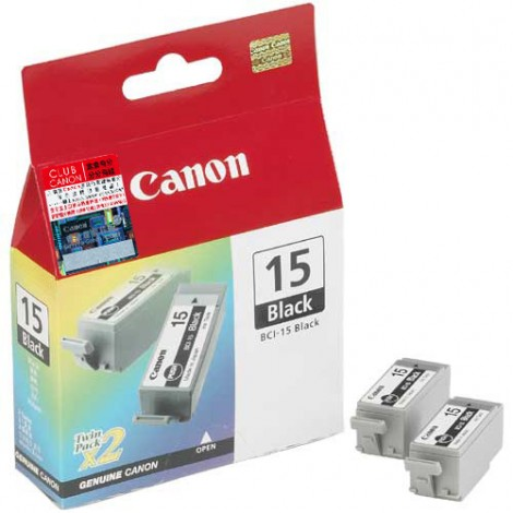 Canon BCI-15 Inkpatroon Black Twin-Pack