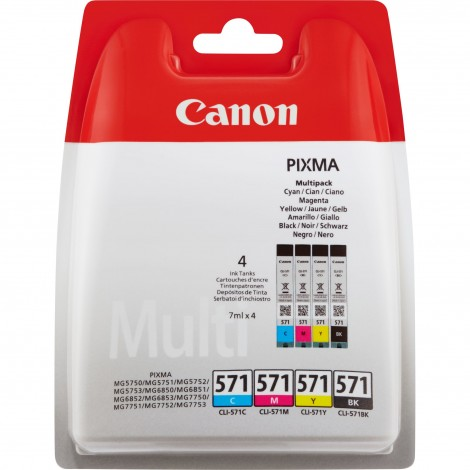 Canon CLI-571 Multipack (C/M/Y/BK) Inktpatroon