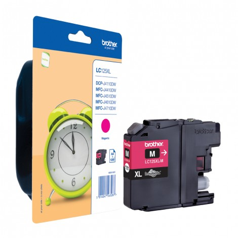 Brother LC-125XLM Magenta inktcartridge