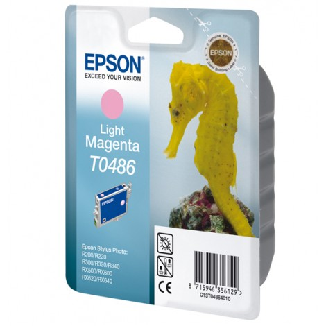 Epson T0486 Inkpatroon (Light Magenta)