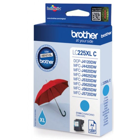 Brother LC-225XLC Cyan inktcartridge