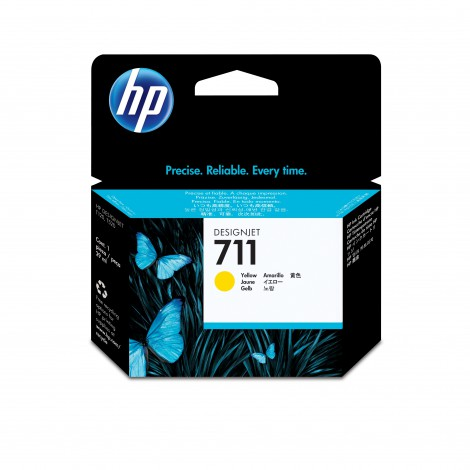 HP 711 29-ml Yellow DesignJet Ink Cartridge inktcartridge Origineel Geel