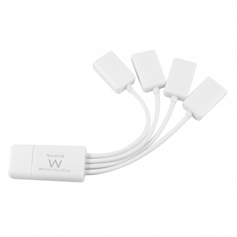Ewent EW1110 4-Poorts Flexibele USB Hub USB2.0