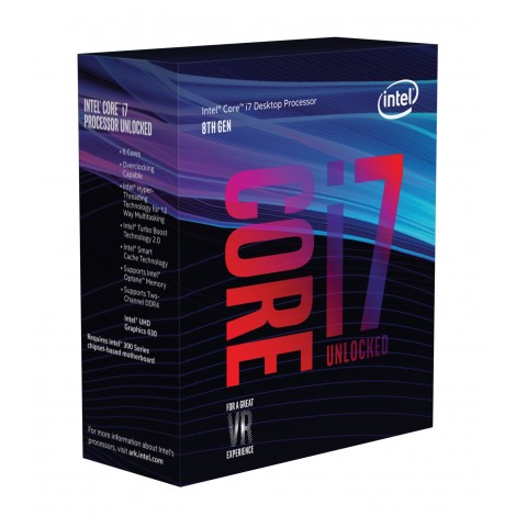 Intel Core i7-8700K (3.7ghz) S1151 12MB (6 Cores)
