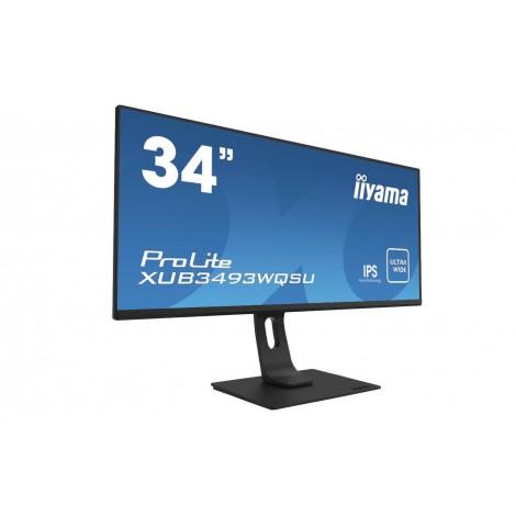 "iiyama ProLite XUB3493WQSU-B1 computer monitor 86,4 cm (34"") 3440 x 1440 Pixels UltraWide Quad HD LED Zwart"