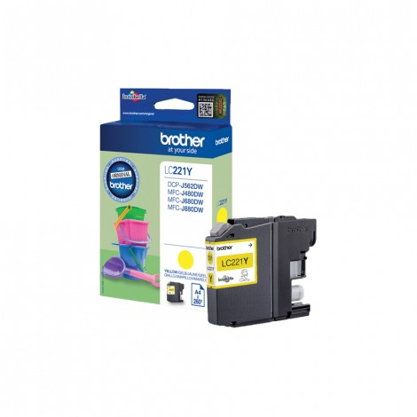 Brother LC-221Y Yellow inktcartridge
