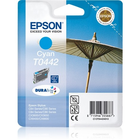 Epson T0442 High Capacity Inkpatroon (Cyan)