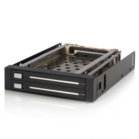 StarTech HSB220SAT25B Hot Swap Mobile Rack 2x 2.5 HDD 3.5