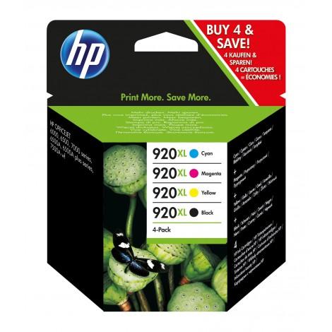 HP 920XL 4-pack High Yield Black/Cyan/Magenta/Yellow Original Ink Cartridges inktcartridge 4 stuk(s) Origineel Hoog (XL) rendement Zwart, Cyaan, Magenta, Geel