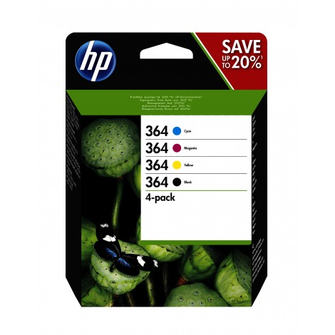 HP N9J73AE Inkpatroon (364) Multipack