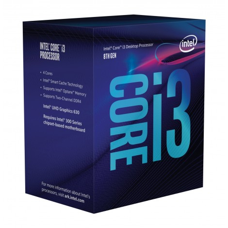 Intel Core i3-8100 (3.6ghz) S1151 6MB (4 Cores)
