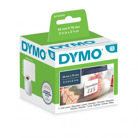 Dymo 99015 Verzend Badge Etiket 54x70mm 1 rol (320 etiketten)
