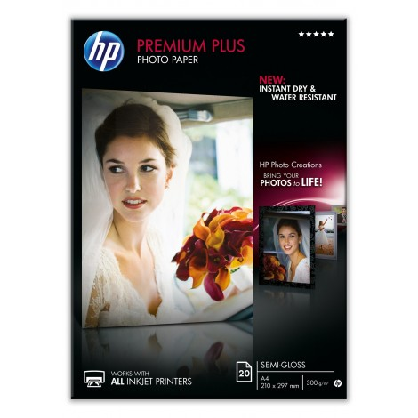 HP CR673A A4 Premium Plus Photo Paper Semi-Gloss 300gr (20 vel)