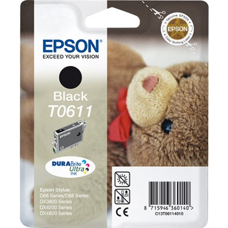 Epson Teddybear inktpatroon Black T0611 DURABrite Ultra Ink