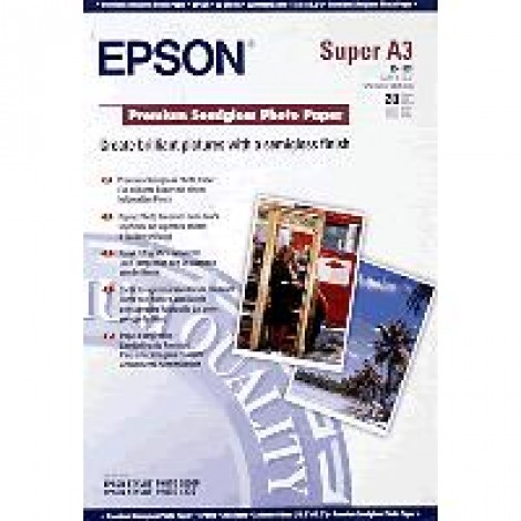 Epson S041328 A3+ Premium Semi-Gloss Photo Paper 251gr (20 vel)