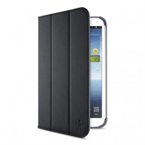 Belkin F7P135VFC00 Smooth Tri-Fold Cover with Stand Samsung Galaxy Tab3 8 Black