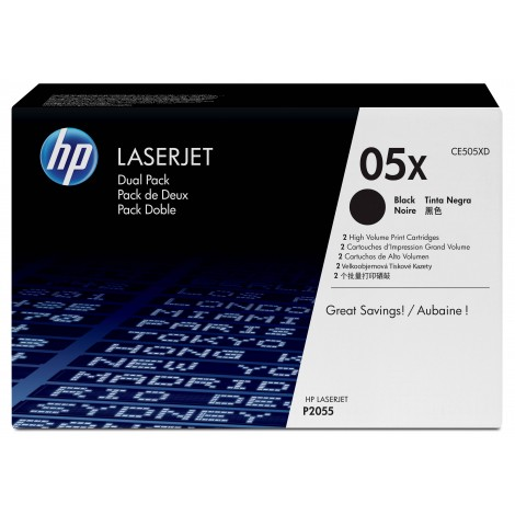 HP CE505XD Tonercartridge (05X) Duo-Pack