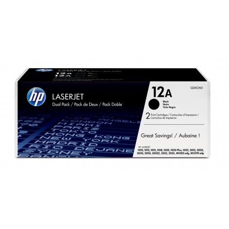 HP Q2612AD Tonercartridge (12A) Duo-Pack