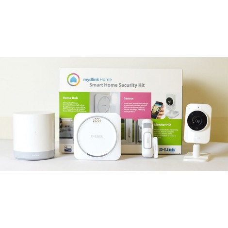 D-Link DCH-107KT Smart Home Security Kit (Home Hub/Door-Window Sensor/Siren/Camera)