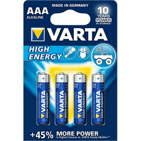 Varta High Energy Micro AAA batterijen 4-Pack