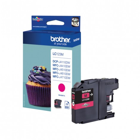 Brother LC-123M Magenta inktcartridge