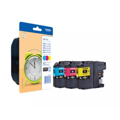 Brother LC-125XL C/M/Y Multipack inktcartridge