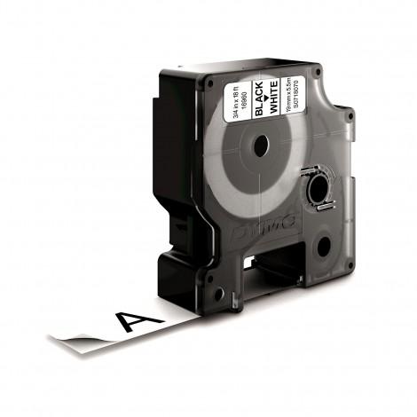 Dymo D1 S0718070 Tape Black/White 19mmx5.5m