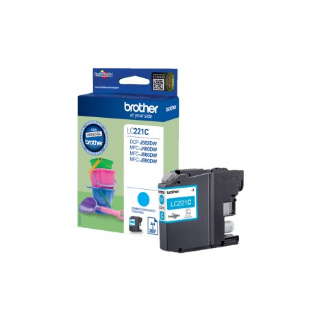 Brother LC-221C Cyan inktcartridge