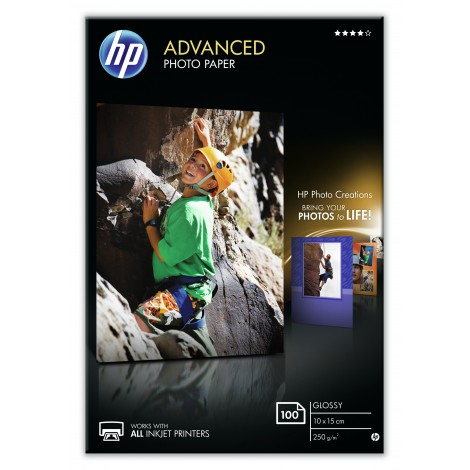 HP Q8692A 10x15 Advanced Glossy Photo Paper 250gr (100 vel)