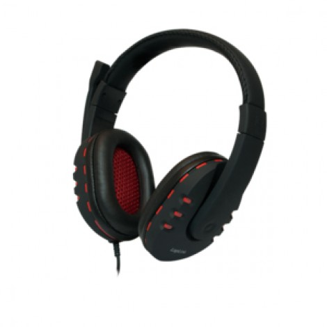 LogiLink HS0033 Over-ear USB Headset with microphone Black