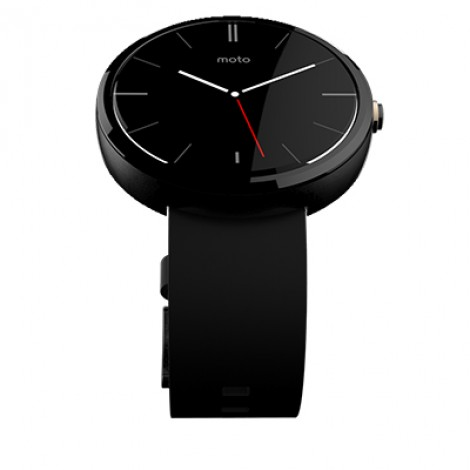Motorola Moto360 Dark Metal / Black Leather