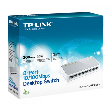 TP-Link TL-SF1008D 8-Poorts 10/100 Mbit Netwerkswitch