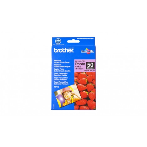 Brother BP61GLP50 10x15 Glossy Inkjet Paper 190gr (50 vel)