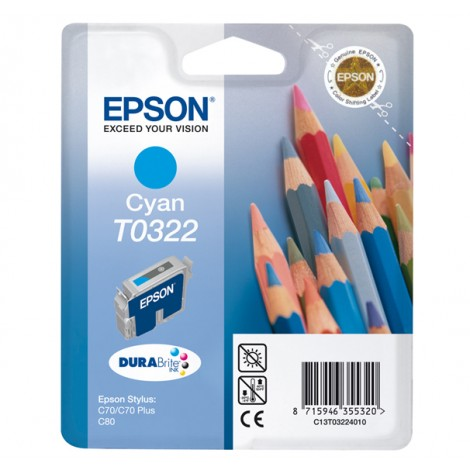 Epson Pencils inktpatroon Cyan T0322 DURABrite Ink