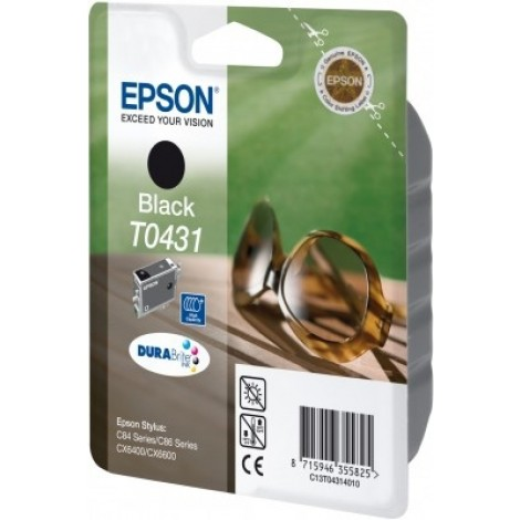 Epson T0431 High Capacity Inkpatroon (Zwart)