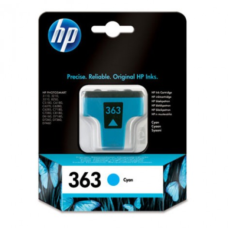 HP C8771E Inkpatroon (363) Cyan