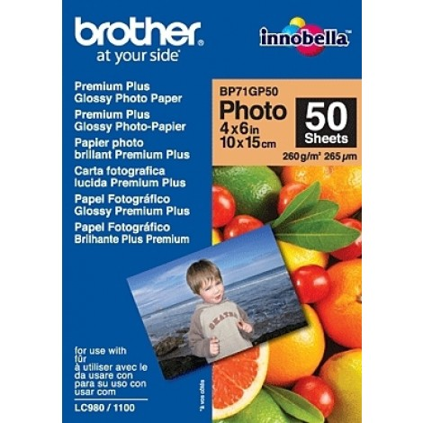 Brother BP71GP50 10x15 Glossy Inkjet Paper 260gr (50 vel)