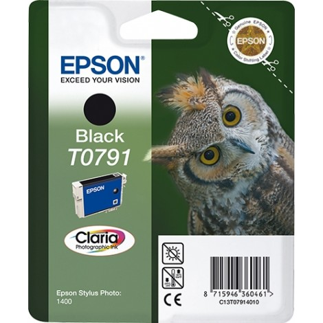 Epson Owl inktpatroon Black T0791 Claria Photographic Ink