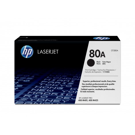 HP CF280A Tonercartridge (80A) Black