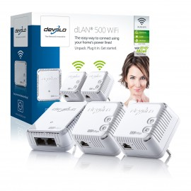 Devolo dLAN 500 Wifi Network Kit (500Mbit) Pack of 3