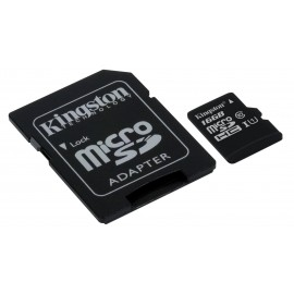 Kingston 16GB Micro SDHC met Adapter