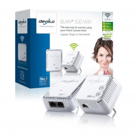 Devolo dLAN 500 Wifi Starter Kit (500Mbit) Pack of 2