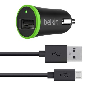 Belkin F8M668BT04 Micro Car Charger 1x USB 2.1A Black + Cable