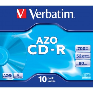 Verbatim CD-R 80min/700MB Crystal Surf 10-Pack