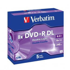 Verbatim DVD+R 8x 8.5GB Double Layer 5-Pack